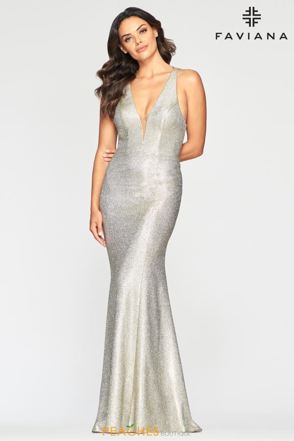 Faviana V- Neckline Fitted Dress S10425
