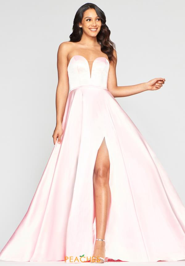 Faviana Strapless A Line Dress S10428