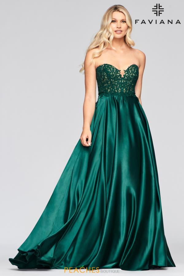 Faviana Strapless A Line Dress S10430
