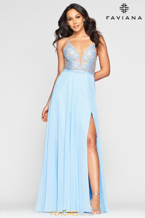 Faviana V- Neckline A Line Dress S10431