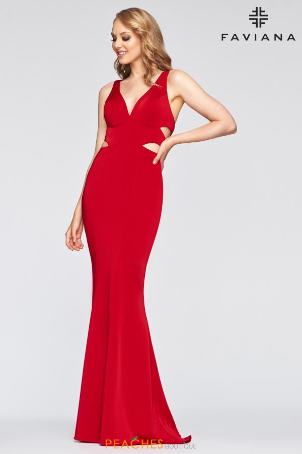 Faviana V- Neckline Fitted Dress S10436
