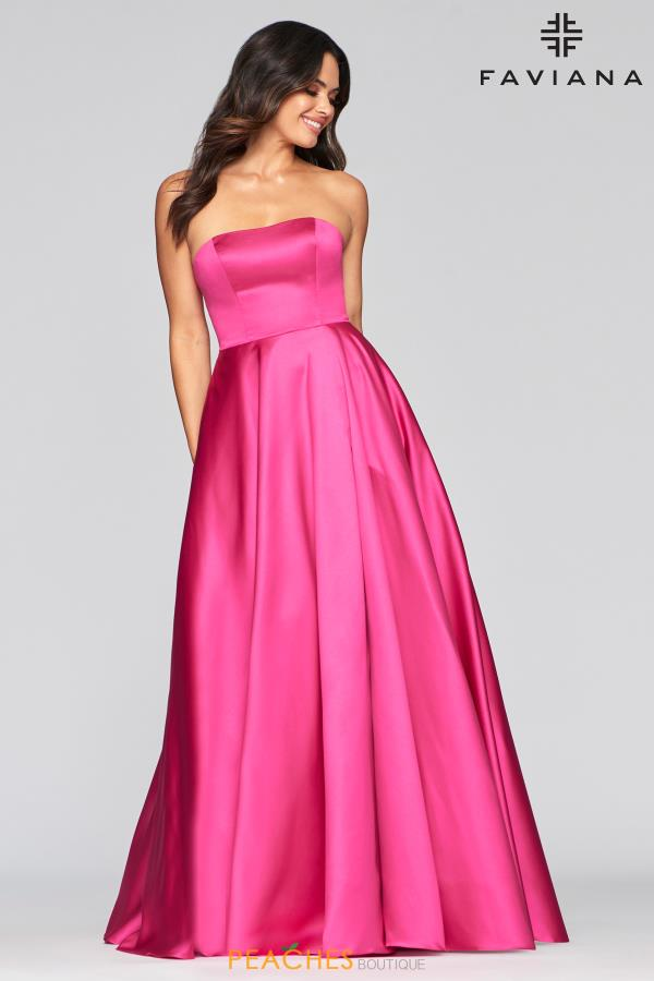 Faviana Strapless A Line Dress S10439
