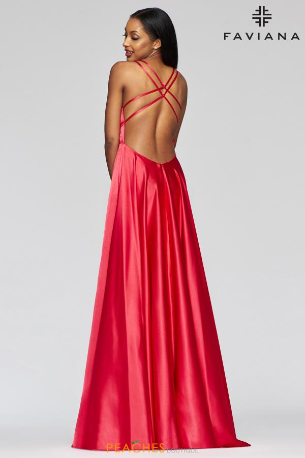 Faviana Open Back A Line Dress S10461