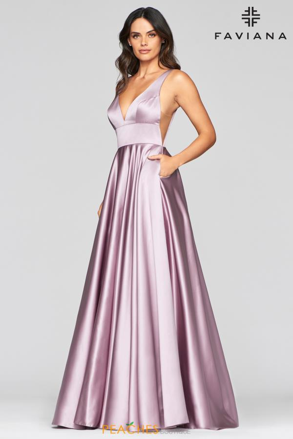 Faviana Long Satin Dress S10474