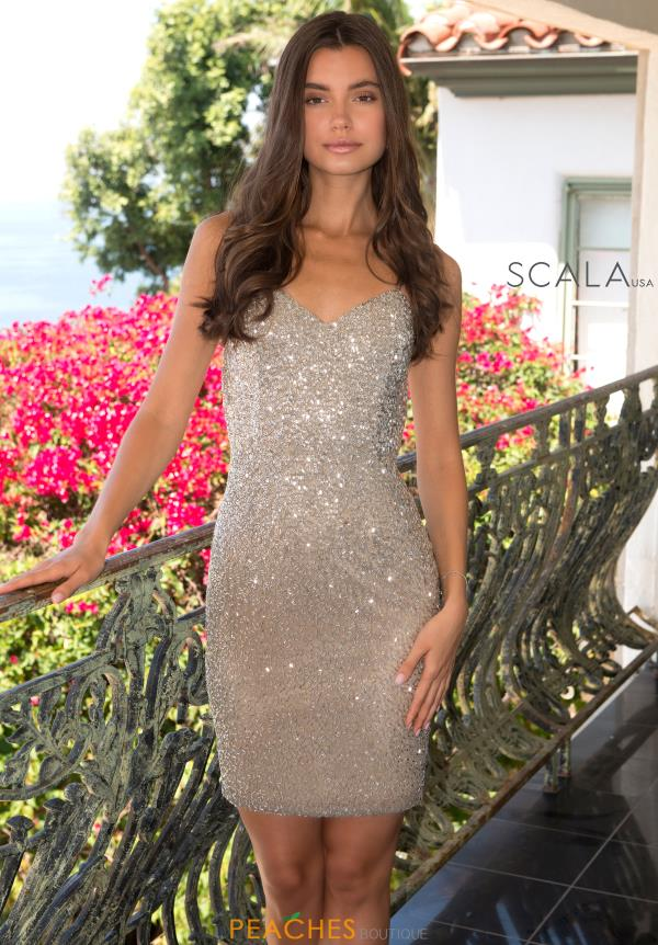 Scala Short Fitted Dress 60108