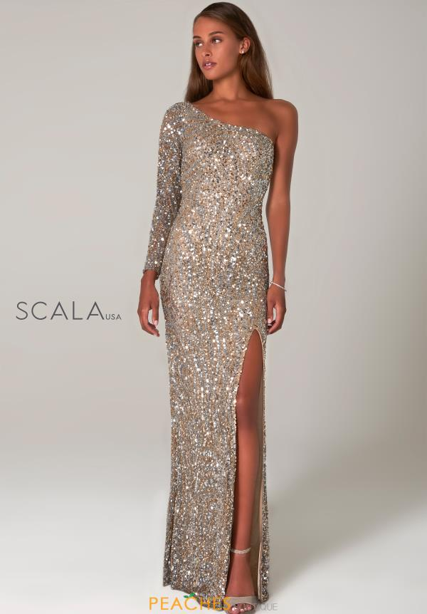 Scala One Shoulder Fitted Dress 60128