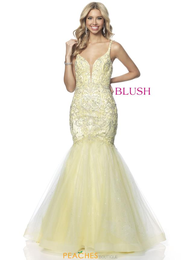 Blush Mermaid Tulle Dress 11886
