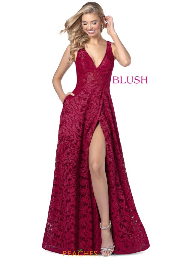 Blush V-Neck Lace Dress 11909