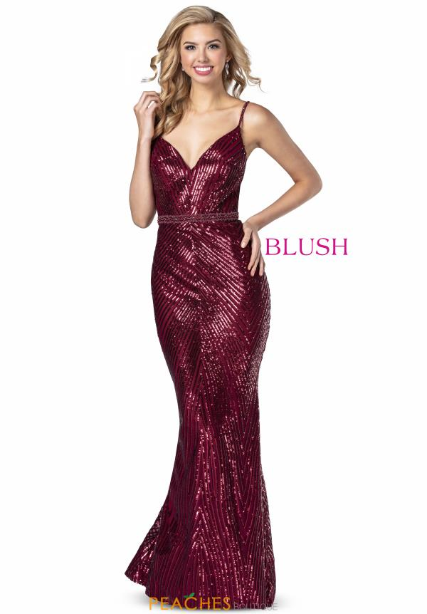 Blush V-Neck Sequins Dress 11912