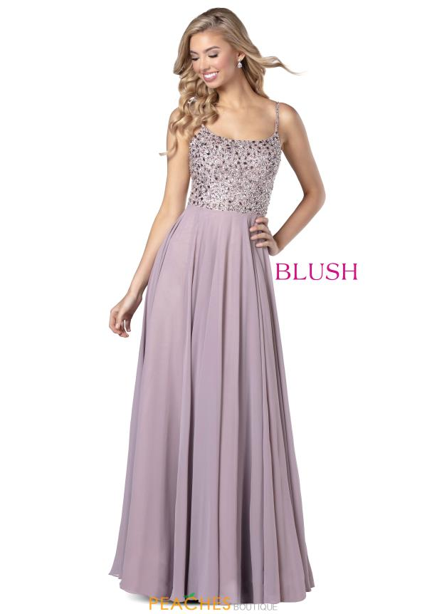 Blush Scoop Beaded Dress 11920