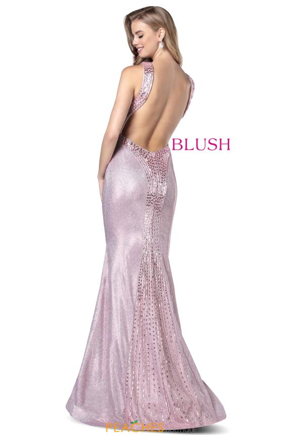 Blush High Neckline Glitter Dress 11948