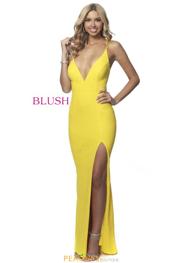 Blush V-Neck Fitted Dress 11971