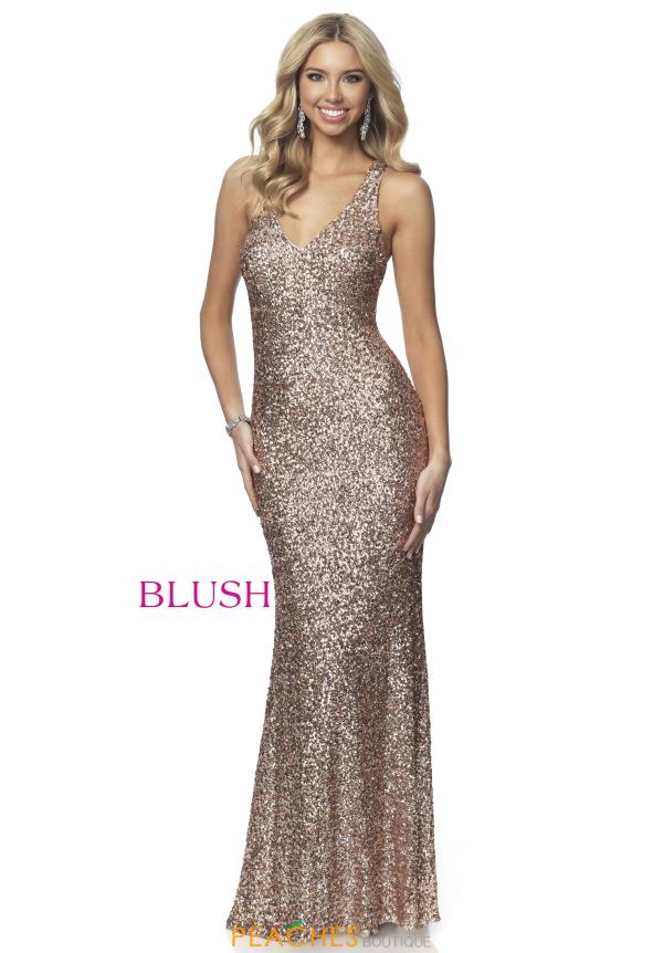 Blush Full Beaded Long Dress 11981