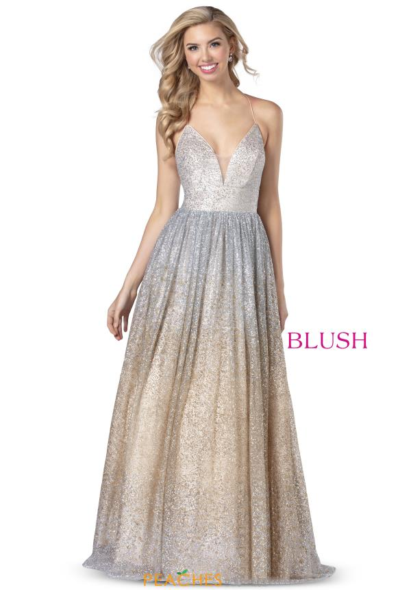 Blush Open Back Long Dress 5802