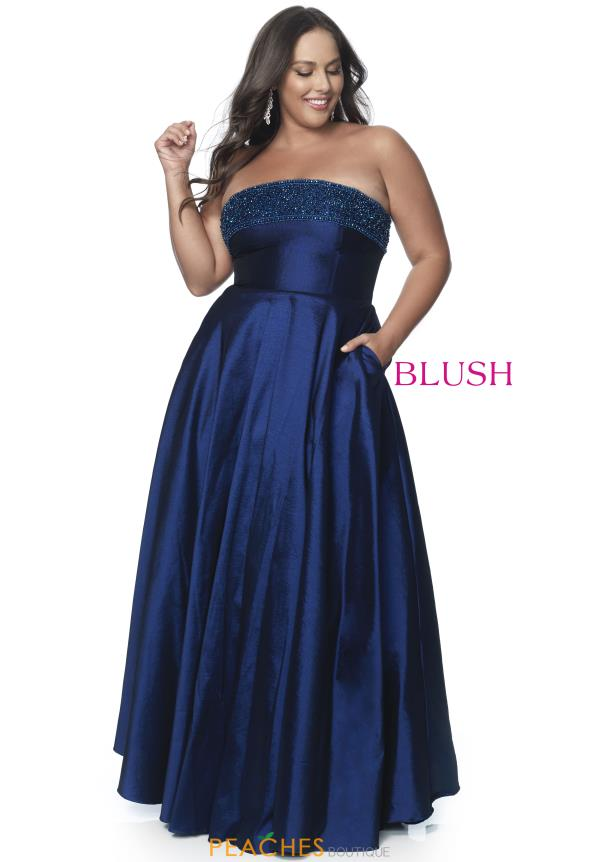 Blush Too Strapless A Line Dress 5805W
