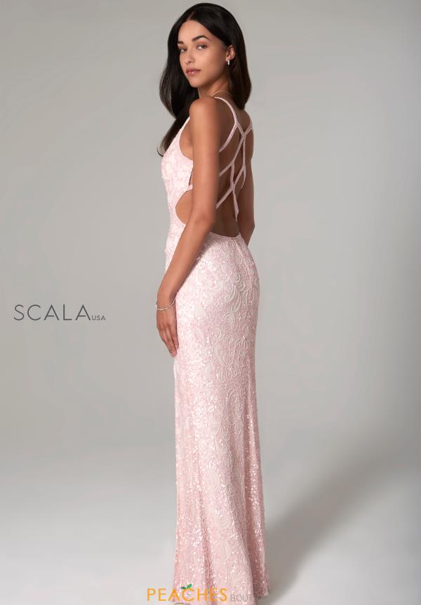 Scala Open Back Fitted Dress 48932