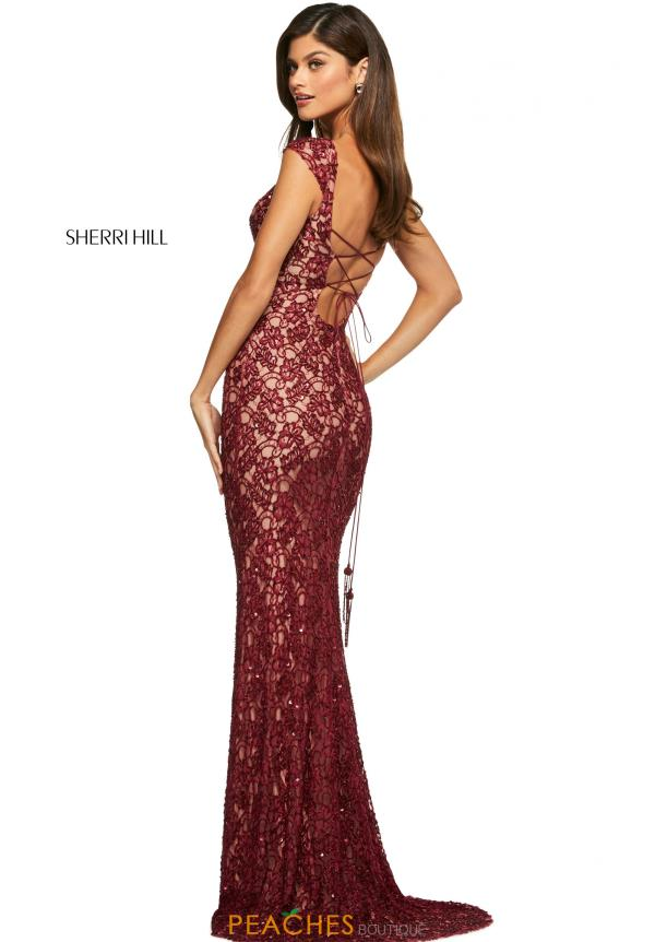 Sherri Hill Long Lace Dress 53446