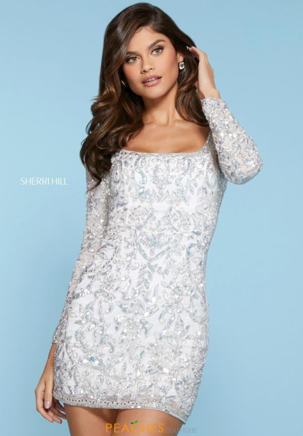 Sherri Hill Short Long Sleeved Dress 53058