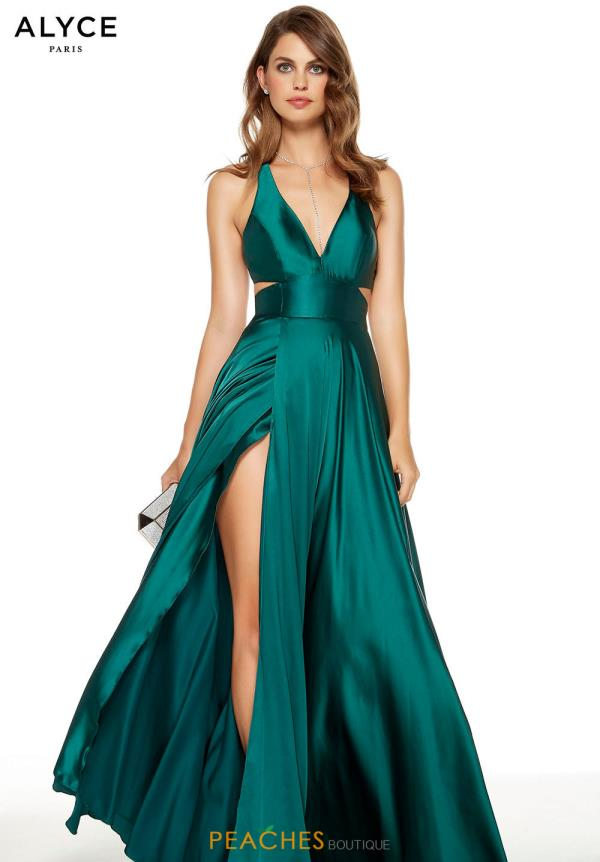 Alyce Paris Long Satin Dress 60782