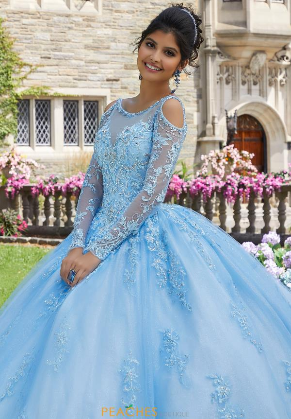 Valencia by Vizcaya Sleeved Ball Gown 60102