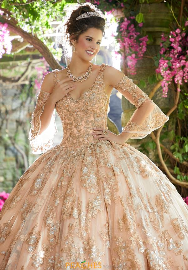 Vizcaya Quinceanera Detachable Bell Sleeves Gown 89261