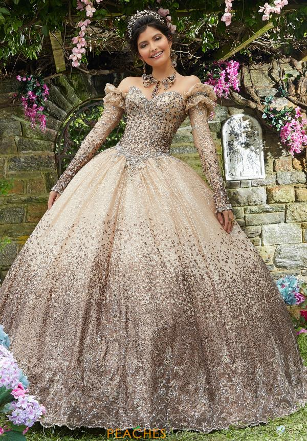Vizcaya Quinceanera Long Print Gown 89278
