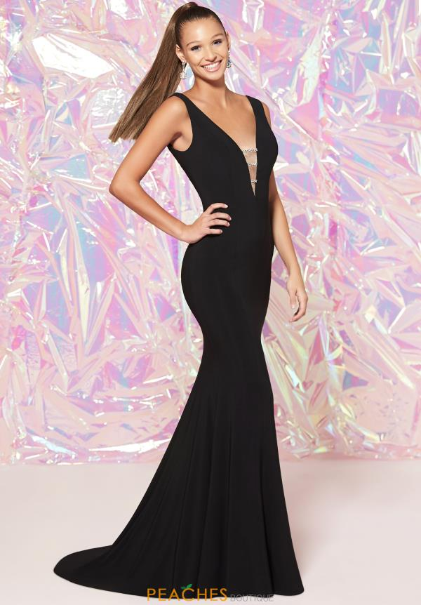 Studio 17 Long Fitted Dress 12788