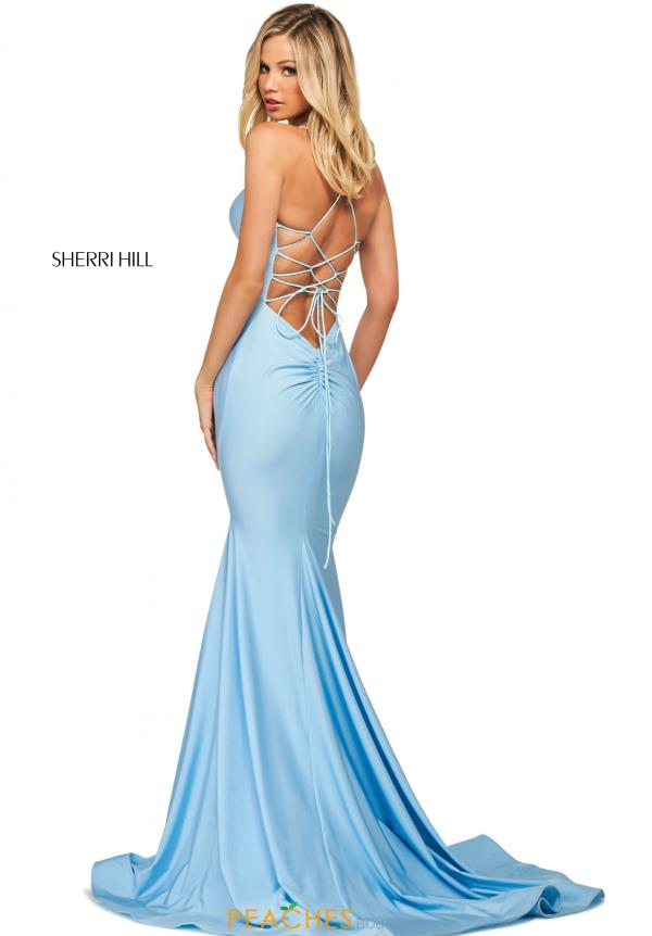 Sherri Hill Sexy Back Fitted Dress 53879