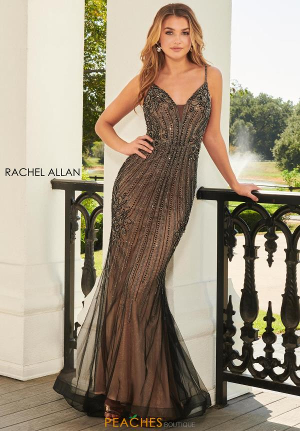 Rachel Allan Long Fitted Dress 7000