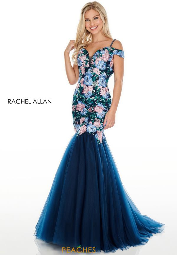 Rachel Allan Long Beaded Dress 7001