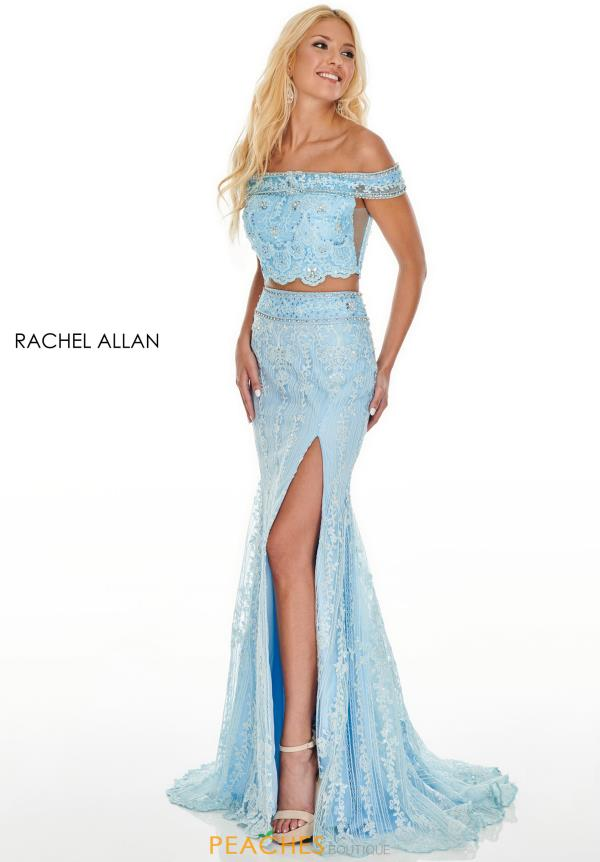 Rachel Allan Long Two Piece Dress 7007