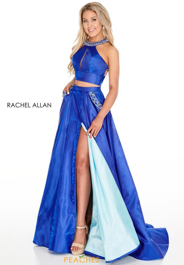 Rachel Allan Long Two Piece Dress 7009