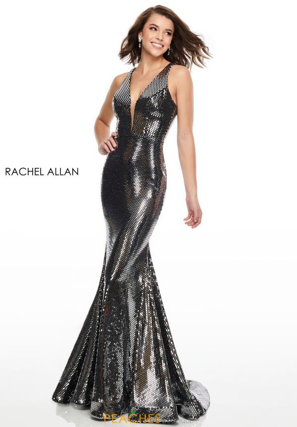 Rachel Allan Long Fitted Dress 7030