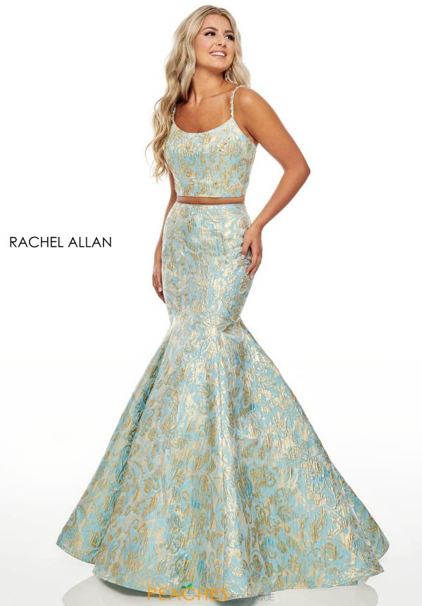 Rachel Allan Beaded Mermaid Dress 7050