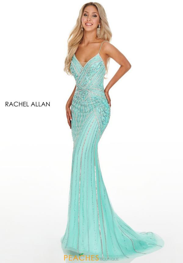 Rachel Allan Long FItted Dress 7084