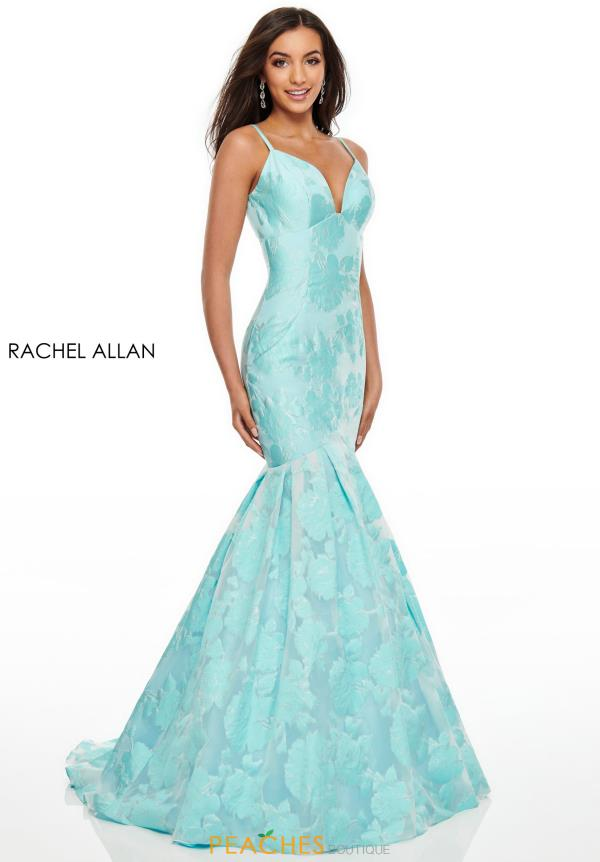 Rachel Allan Fitted Mermaid Dress 7087