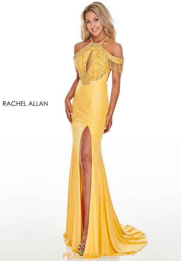 Rachel Allan Long Beaded Dress 7091