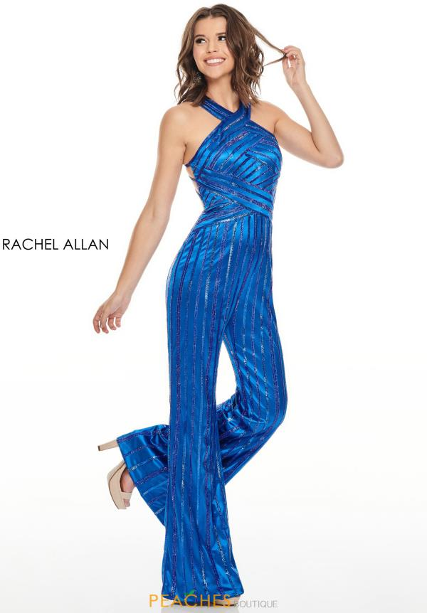 Rachel Allan Fitted Jump Suit  Dress 7098