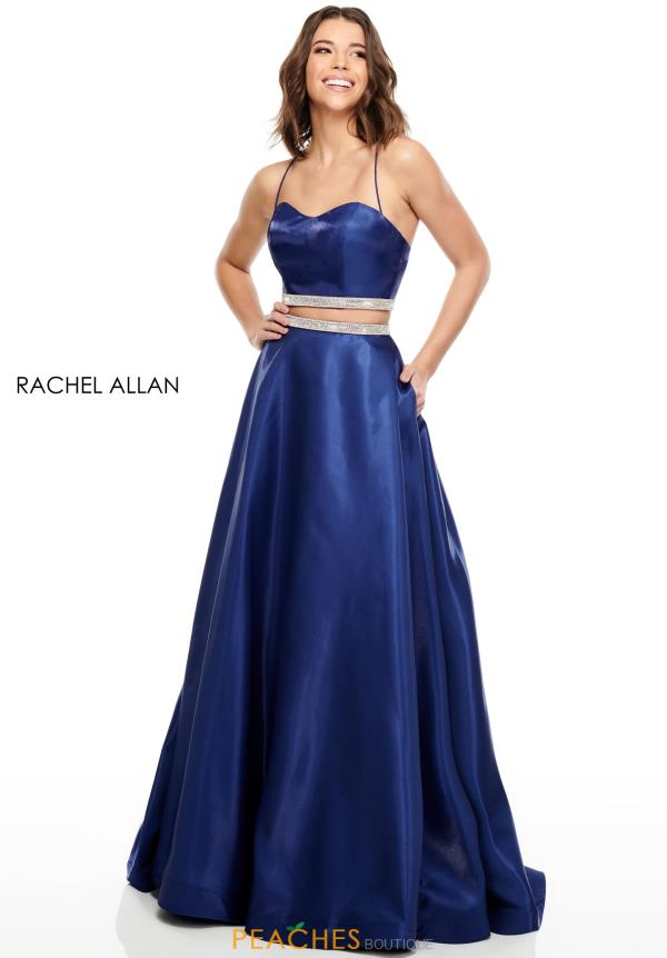 Rachel Allan Long Two Piece Dress 7106