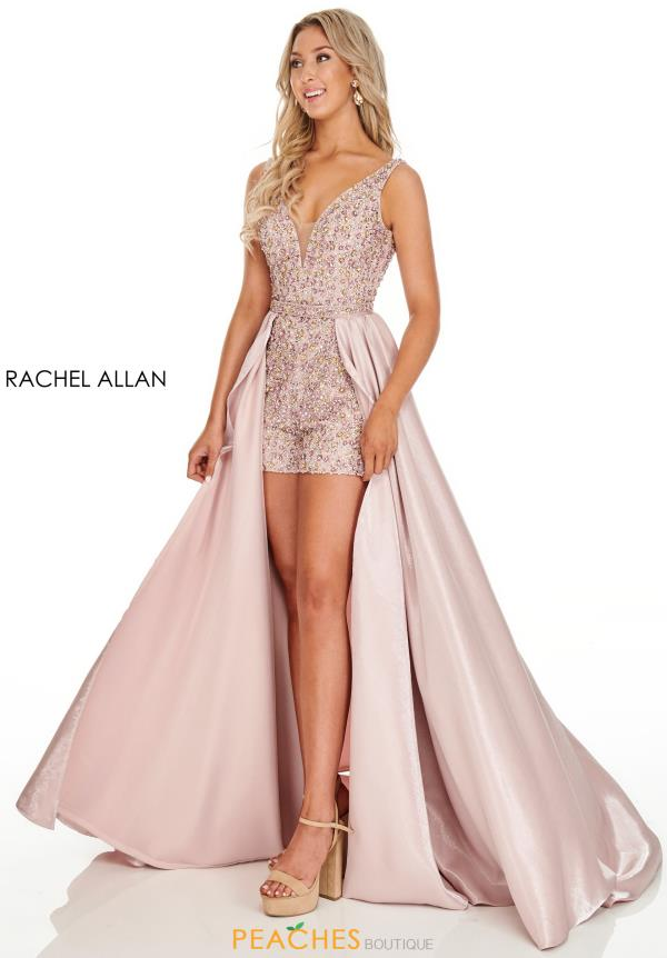 Rachel Allan Beaded Romper Dress 7120