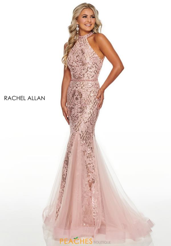 Rachel Allan Fitted Lace Dress 7123