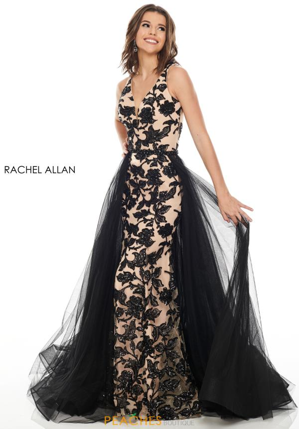 Rachel Allan Long Beaded Dress 7130