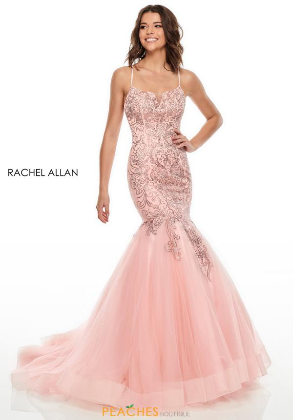 Rachel Allan Long Beaded Dress 7132
