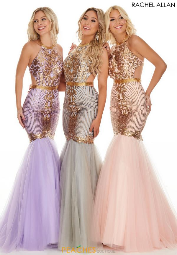 Rachel Allan Fitted Mermaid Dress 7142