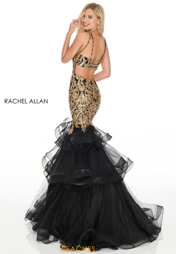 Rachel Allan Beaded Mermaid Dress 7167