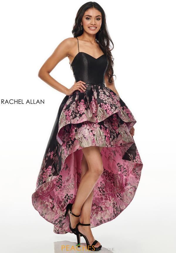 Rachel Allan Beaded High Low Dress 7168