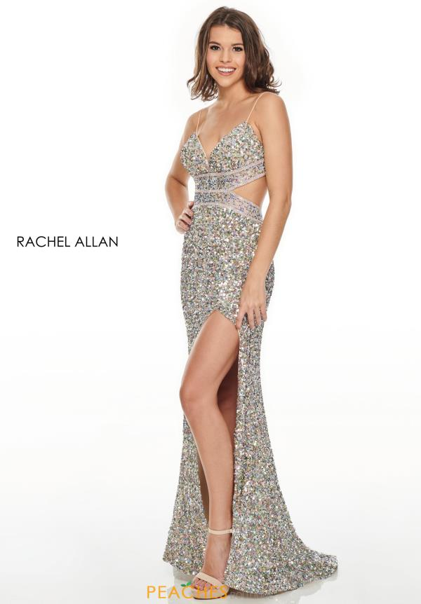 Rachel Allan Fitted Beaded Dress 7191