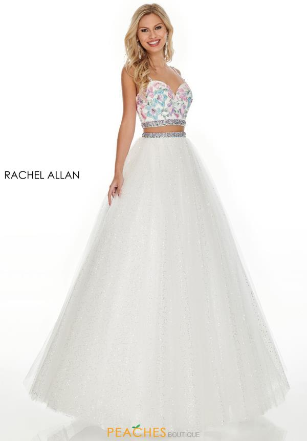Rachel Allan Two Piece Beaded Dress 7193
