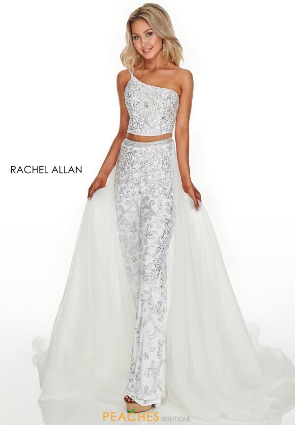 Rachel Allan Beaded Two Piece Dress 7204