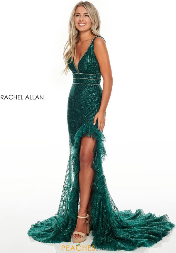 Rachel Allan Fitted Beaded Dress 7208
